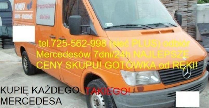 kupię mercedesa Sprintera 208 210 212 213 216 308 310 311 312 Kliknięcie w obrazek spowoduje wyświetlenie jego powiększenia