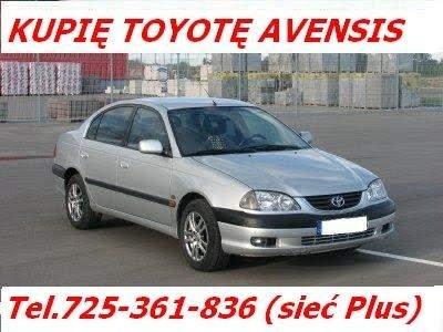 Kupię Toyotę Avensis I i II Kupie toyota avensis I lub II Skup Toyota Kliknięcie w obrazek spowoduje wyświetlenie jego powiększenia